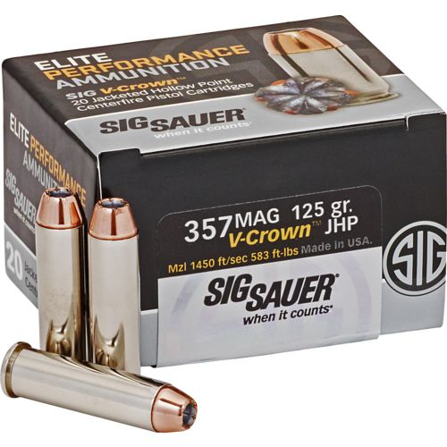 SIG SAUER Elite V-Crown .357 Magnum 125-Grain JHP Centerfire Ammunition