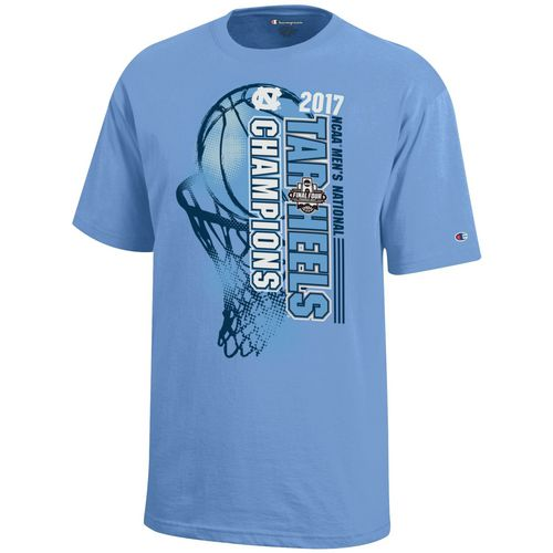 Champion Youth University of North Carolina 2017 NCAA Men's National Champs Vertical T-shirt