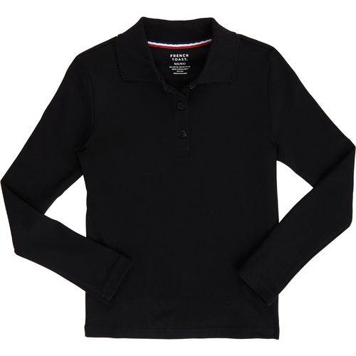 French Toast Toddler Girls' Long Sleeve Picot Collar Knit Polo Shirt - view number 1