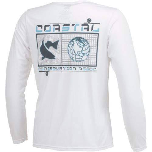 CCA Men's Performance Coastal World Long Sleeve T-shirt - view number 2