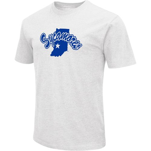 Colosseum Athletics Men's Indiana State University Logo Short Sleeve T-shirt