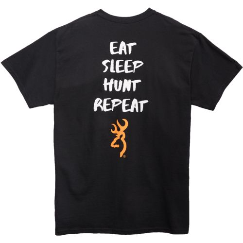 Browning Adults' Hunt Sleep Repeat Short Sleeve T-shirt - view number 4