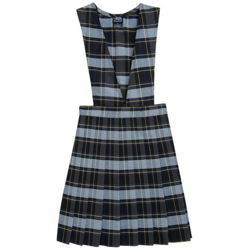 French Toast Girls' V-neck Pleated Plaid Uniform Jumper - view number 1