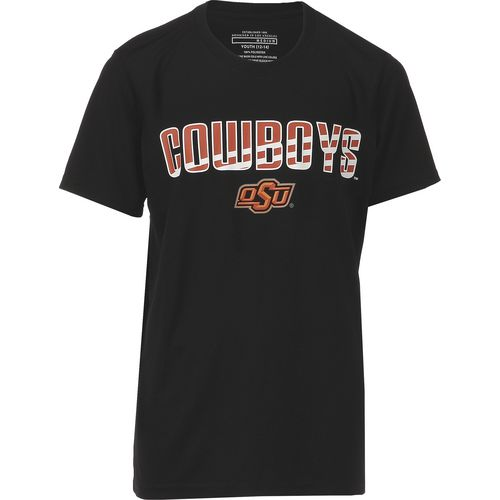 Colosseum Athletics Boys' Oklahoma State University Team Stripe T-shirt