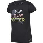 BCG Girls' Live Love Soccer Short Sleeve T-shirt - view number 3