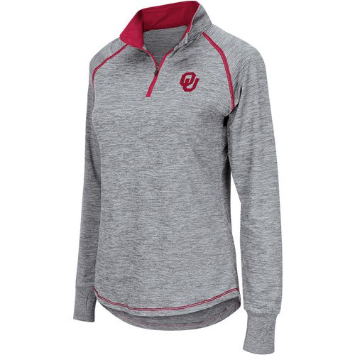 Colosseum Athletics Women's University of Oklahoma Bikram 1/4 Zip Long Sleeve T-shirt