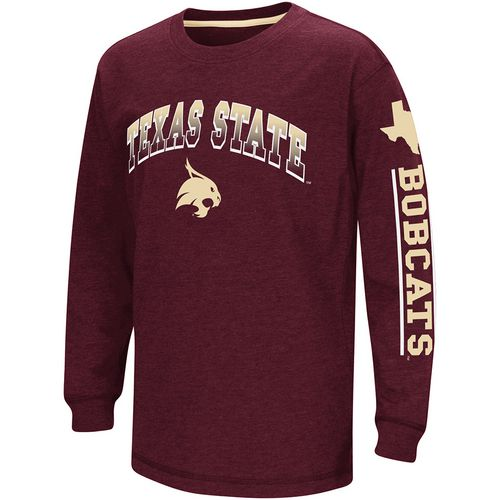 Colosseum Athletics Boys' Texas State University Grandstand Long Sleeve T-shirt