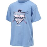 Love & Pineapples Girls' Queen of Diamonds Short Sleeve T-shirt - view number 3