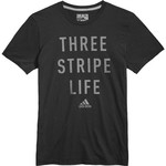 adidas Men's Three Stripe Life Metal Mesh T-shirt - view number 4