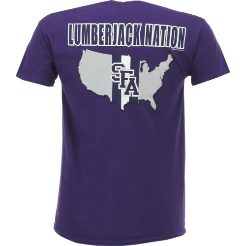 New World Graphics Men's Stephen F. Austin State University Stripe Nation T-shirt - view number 1
