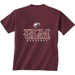New World Graphics Women's University of Louisiana at Monroe Comfort Color Initial Pattern T-shi - view number 1