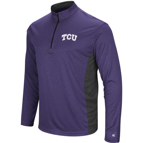Colosseum Athletics Men's Texas Christian University Audible 1/4 Zip Windshirt