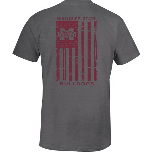 Image One Men's Mississippi State University Distressed Flag T-shirt