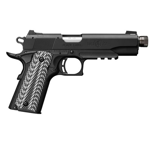 Browning 1911 Black Label Suppressor-Ready .22 LR Pistol with Rail - view number 1