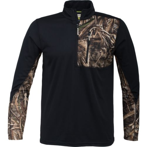 ede11cbe Magellan Outdoors Men's Hunt Gear 1/4 Zip Camo Shirt