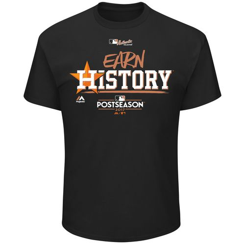 Majestic Men's Astros Division Series Earn History Locker Room T-Shirt