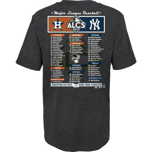 Majestic Little Kids ALDS League Match Up Roster T-Shirt