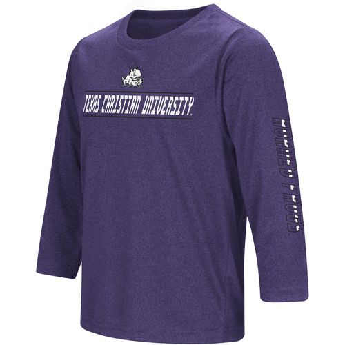 Colosseum Athletics Boys' Texas Christian University BF Long Sleeve T-shirt