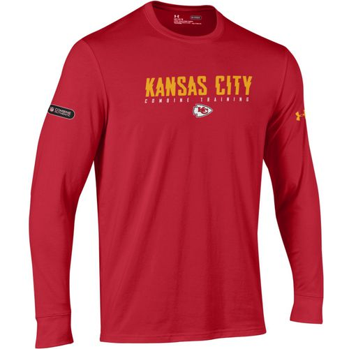 Under Armour Men's Kansas City Chiefs Authentic Combine Wordmark Long Sleeve T-shirt