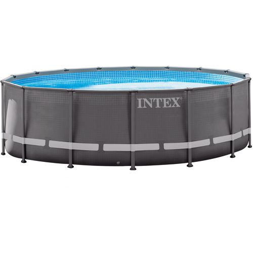 Display product reviews for INTEX 16 ft x 48 in Round Ultra Frame Pool Set
