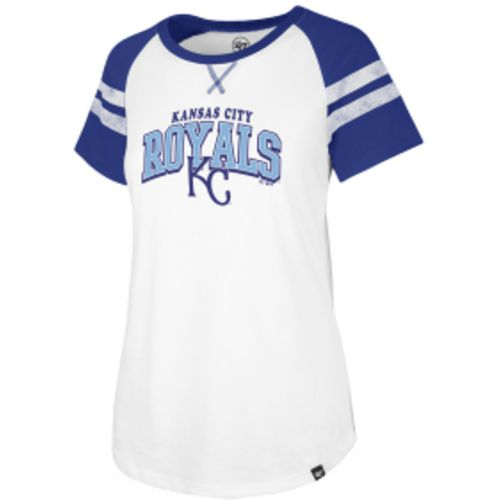 '47 Women's Kansas City Royals Fly Out Raglan 3/4 Sleeve T-Shirt - view number 2