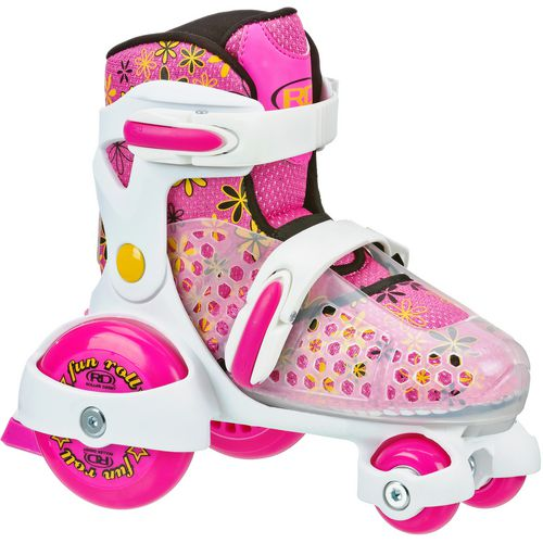 Roller Derby Girls' Fun Roll Jr Adjustable Quad Roller Skates