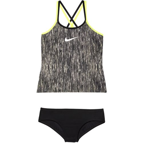 Nike Girls' Spiderback Rush Heather 2-Piece Tankini Swimsuit