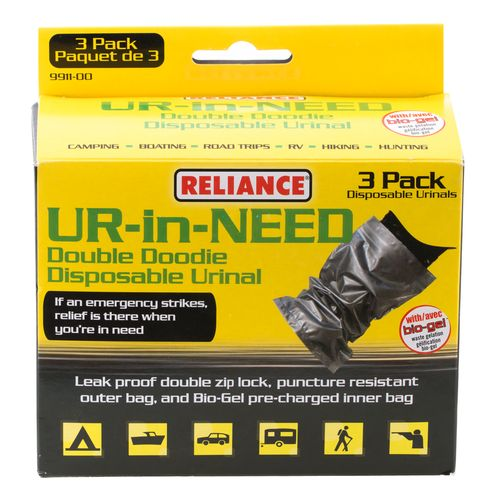 Reliance UR IN NEED Disposable Urinals 3-Pack