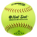 "Worth Hot Dot 12"" Adult Slowpitch Softball"