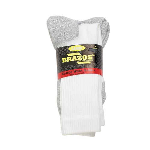 Brazos® Adults' Cotton Crew Work Socks 2-Pack