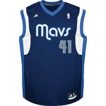 adidas Men's Dallas Mavericks Dirk Nowitzki #41 NBA Revolution 30 Replica Jersey