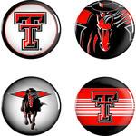 WinCraft Texas Tech University Buttons 4-Pack