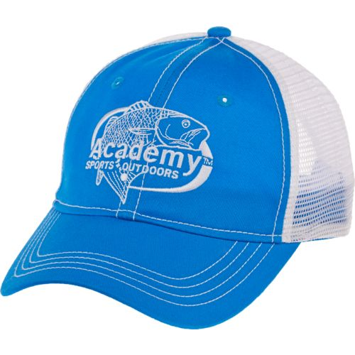 Academy Sports + Outdoors Men's Oval Embroidered Redfish Trucker Hat