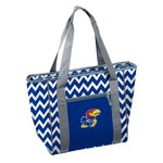 Logo Chair University of Kansas 30-Can Chevron Cooler Tote Bag