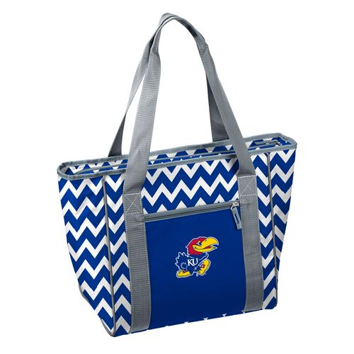 Logo™ University of Kansas 30-Can Chevron Cooler Tote Bag