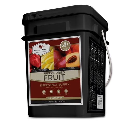 Wise Company 156-Serving Freeze-Dried Fruit Bucket