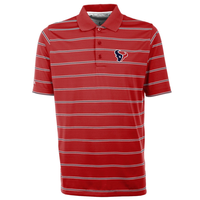 Ant houston texans deluxe polo mens houston texans red xx for Houston texans polo shirt