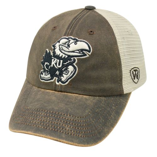 Top of the World Adults' University of Kansas Scat Mesh Cap
