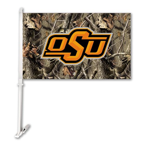BSI Oklahoma State University Realtree 2-Sided Car Flag
