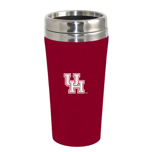 The Fanatic Group University of Houston 16 oz. Rubberized Stainless-Steel Tumbler