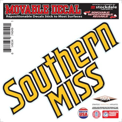 Stockdale University of Southern Mississippi 6' x 6' Decal