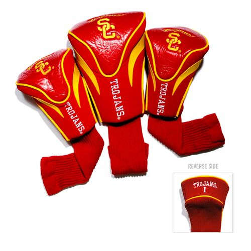 Team Golf University of Southern California Contour Sock Head Covers 3-Pack