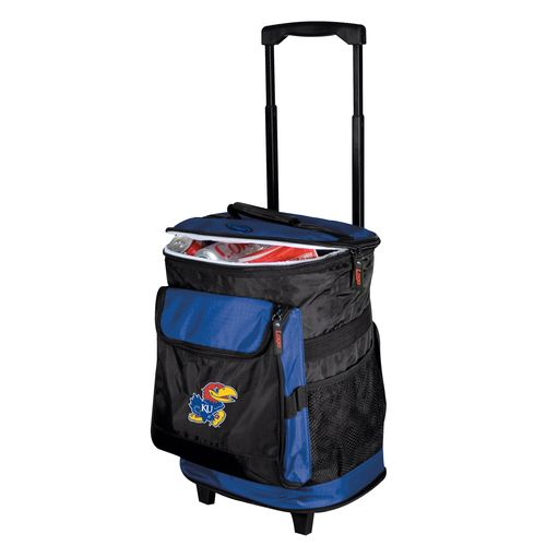 Logo University of Kansas 48-Can Rolling Cooler