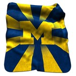 Logo University of Michigan Raschel Throw