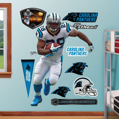 Fathead Carolina Panthers Jonathan Stewart Away Real Big Wall Decal