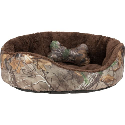 Display product reviews for Magellan Outdoors Realtree Xtra Small 2-Piece Dog Bed and Plush Bone Toy Set
