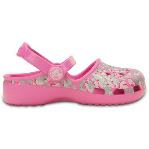Crocs™ Kids' Karin Sparkle Leopard Clogs