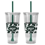 Boelter Brands New York Jets Bold Neo Sleeve 22 oz. Straw Tumblers 2-Pack