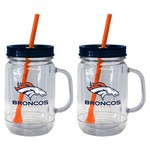 Boelter Brands Denver Broncos 20 oz. Handled Straw Tumblers 2-Pack