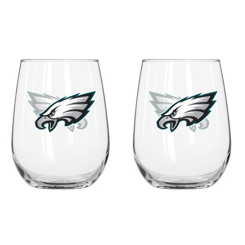 Boelter Brands Philadelphia Eagles 16 oz. Curved Beverage Glasses 2-Pack